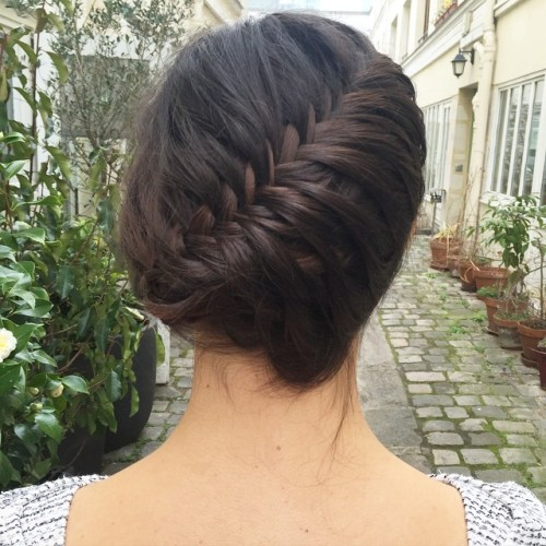 Fishbone Braid Updo
