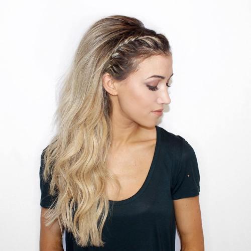 Bouffant Half Updo For Long Hair