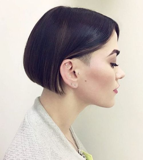 Short Blunt Bob With Temple Undershave