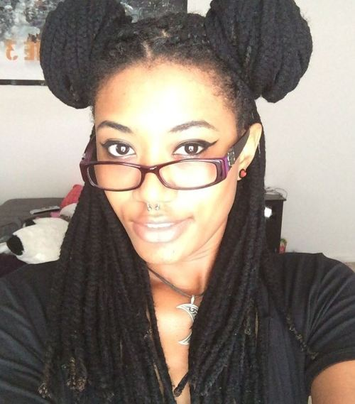 Two Buns For Yarn Braids