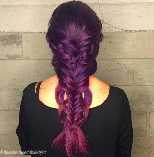 Double Mermaid Fishtail Braid