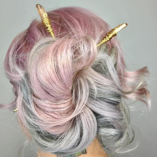 Updo With Chinese Sticks
