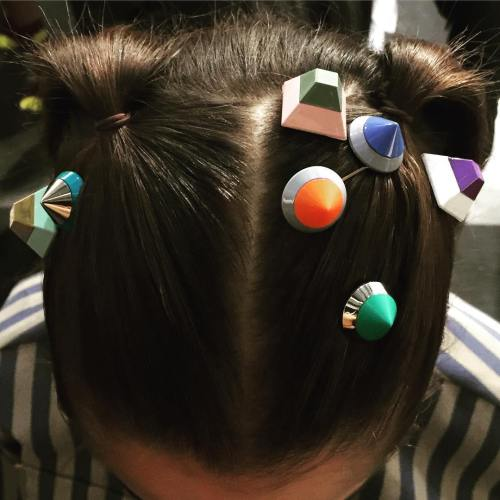 Pigtails With Fun Hair Clips