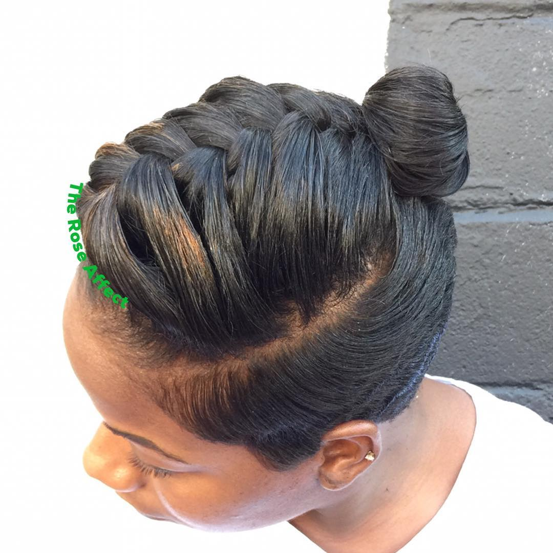 Braid And Bun For An Undercut Hairstyle