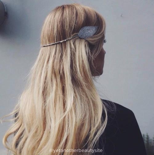Boho Waves With A Leaf Headband