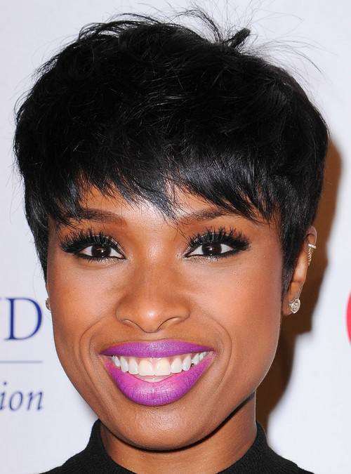 Jennifer Hudson pixie hairstyle for black women