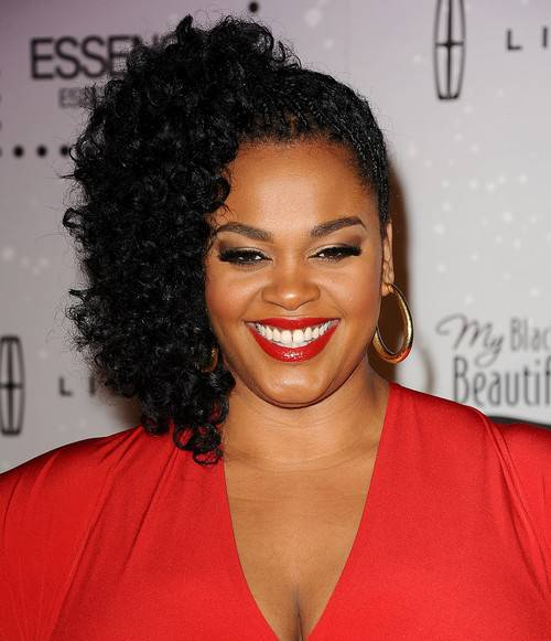 Jill Scott black asymmetric hairstyle
