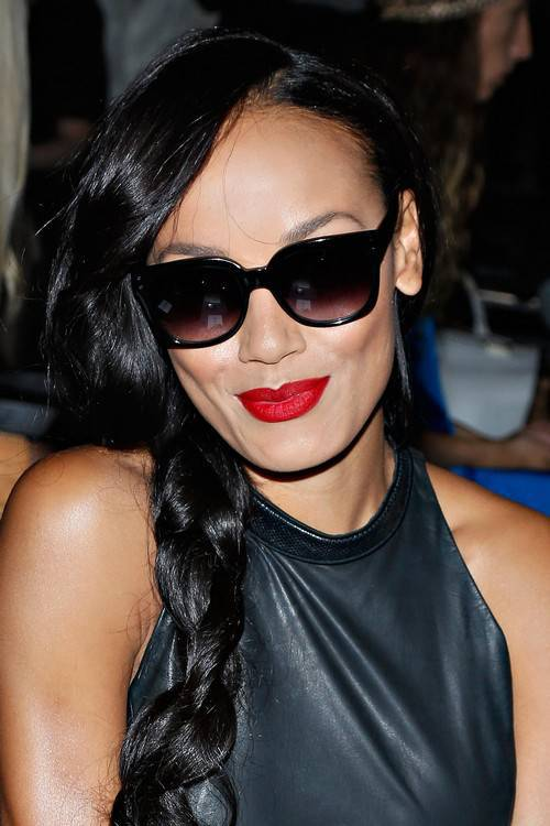 Selita Ebanks side braid