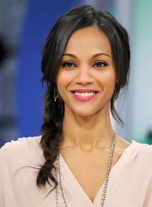 Zoe Saldana side braid