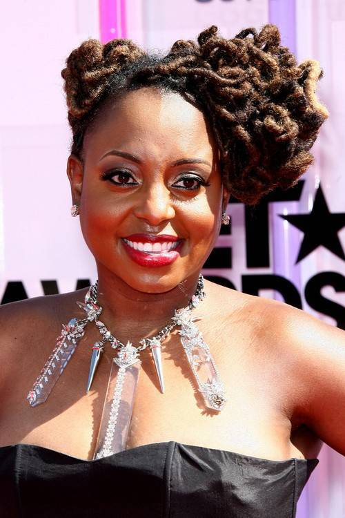 Ledisi dreadlocks updo