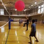 CSUB students play volleyball at the second annual Rec Fest Monday, Aug. 22. Photo by Chris Mateo/The Runner