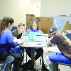Student athletes utilize the Kegley Center and tutoring services to maintain their studies on Oct. 17. Karina Diaz/ The Runner