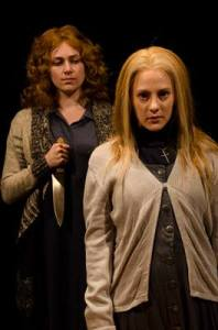 "Jenny Hickman and Hannah Freeman in CCM's ""Carrie"""