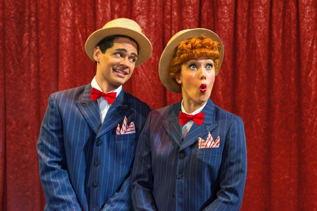 Euriamis Losada (Ricky Ricardo) and Thea Brooks (Lucy Ricardo) in the national tour of I LOVE LUCY® LIVE ON STAGE (Photo by Justin Namon)