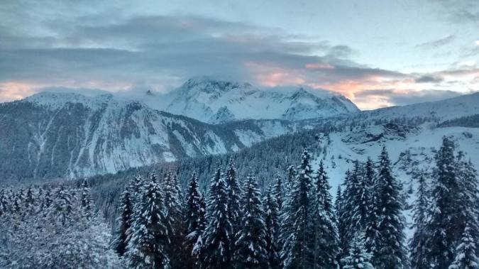 tbt The view from my hotel room in Courchevel Francehellip