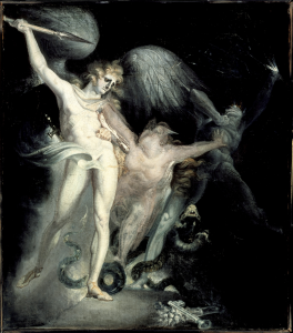 Satan encount'ring Death, Sin interposing (ca. 1793-96)