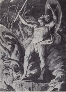 James Barry, Satan and His Legions Hurling Defiance toward the Vault of Heaven (ca. 1792-94)