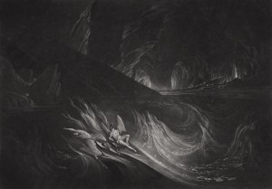 John Martin, The Fiery Gulf (ca. 1823-25)