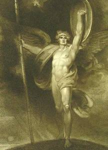 Richard Westall, Satan Alarmed—Dilated Stood (1794)