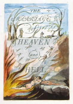 William Blake, Frontispiece to The Marriage of Heaven and Hell (1790-93)