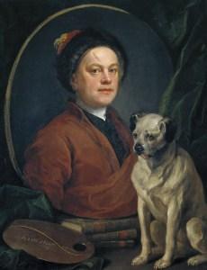 William Hogarth, Painter and his Pug (1745)