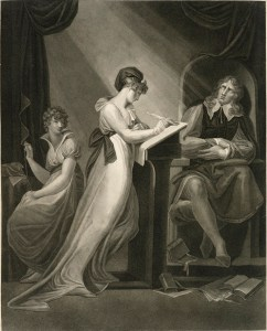 Moses Haughton, after Henry Fuseli, Milton Dictating to his Daughter (1806)