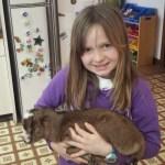 Vicki holding Sawyer Farm's Twix