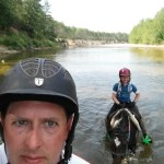 Crossing the Saco River