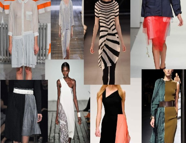 asymemetry   sideway hemlines 1 SPRING/SUMMER 2011 TOP 10 TRENDS:  #8 ASYMMETRY   The Sche Report / Margaret Sche