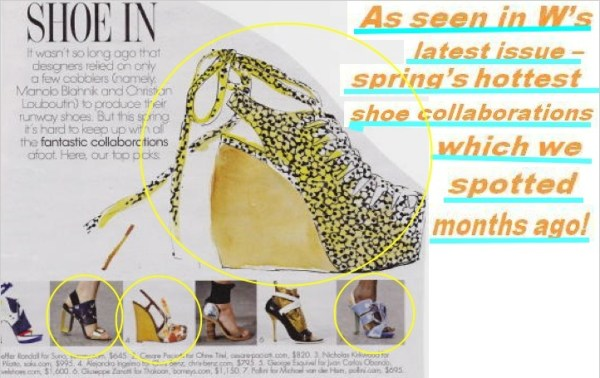 shoes WE SAW IT FIRST!   TREND VALIDATIONS   The Sche Report / Margaret Sche