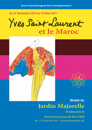 05 exhibit announcement from foundation site YSL AND MOROCCO:  A RELATIONSHIP OF LOVE   The Sche Report / Margaret Sche