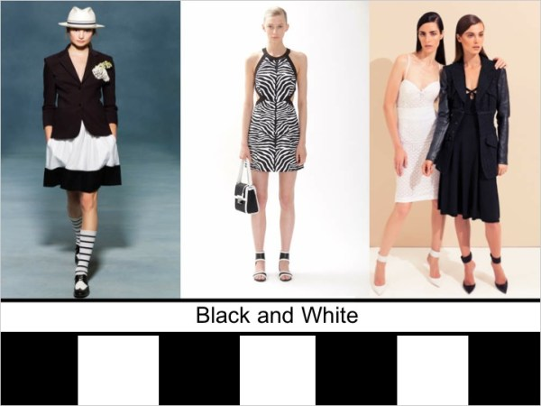 black and white SPRING 2012 COLOR PALETTE FORECAST   The Sche Report / Margaret Sche