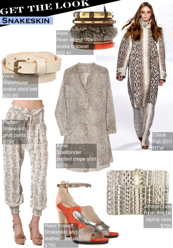 getthelooksnakeskin GET THE LOOK:  SNAKESKIN   The Sche Report / Margaret Sche