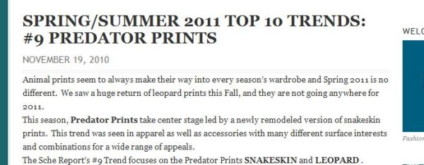 post snap 1 WE SAW IT FIRST! TREND VALIDATION: SUMMER SNAKESKINS   The Sche Report / Margaret Sche