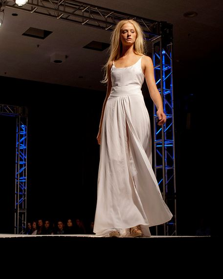 white dress FINDING TALENT: UCLAs FAST SPRING SHOW   ILLUMINATION   The Sche Report / Margaret Sche