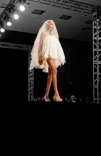 white short dress FINDING TALENT: UCLAs FAST SPRING SHOW   ILLUMINATION   The Sche Report / Margaret Sche