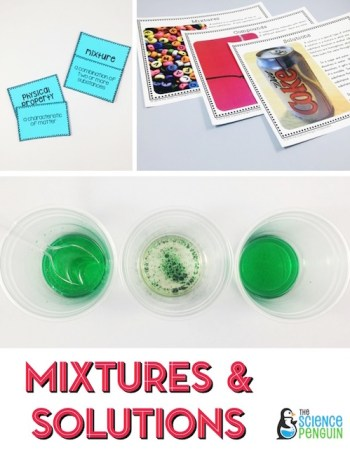 Mixtures and Solutions Science Stations Unit