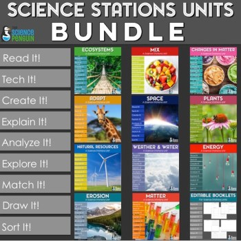Science Stations Units Bundle-- 11 stations units with 9 stations each to reinforce instruction