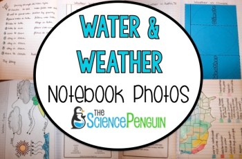 Weather and Water Cycle Notebook Photos