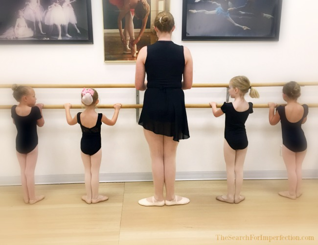 A Ballet Teacher and Her Students