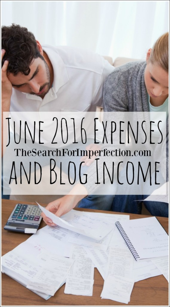 June 2016 Income and Blog Expense Report