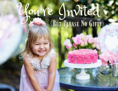 You're Invited, But Please No Gifts