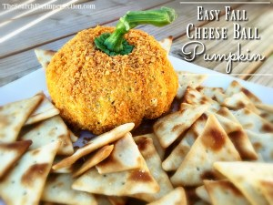 Easy Fall Cheese Ball Pumpkin