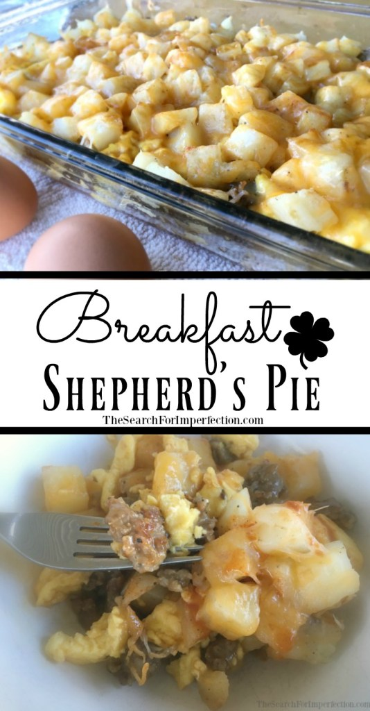 How can you go wrong with eggs, sausage, potatoes, cheese, and veggies? This Breakfast Shepherd's Pie is unique and delicious.