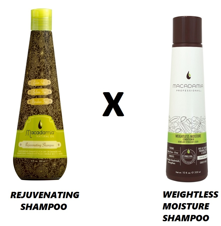 WEIGHTLESS MOISTURE SHAMPOO x REJUVENATING SHAMPOO