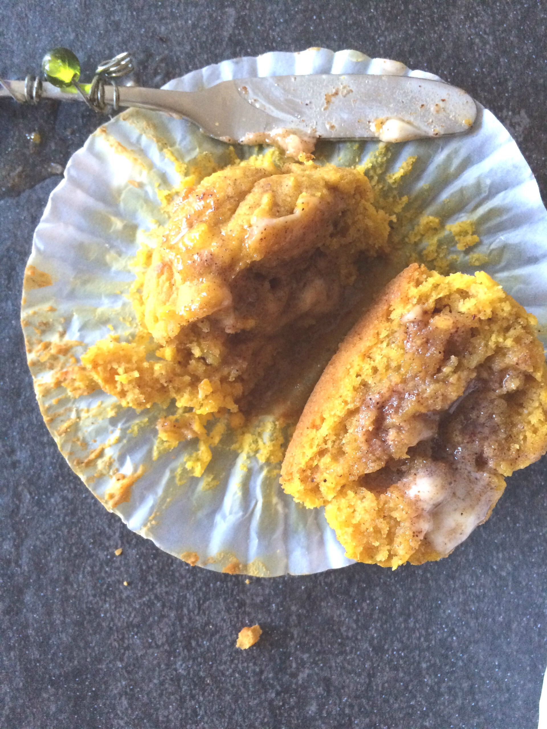 Pumpkin Cornbread Muffins with Maple Cinnamon Butter