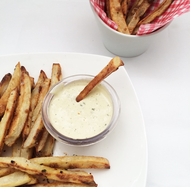 Oven-Baked French Fries with Garlic Aioli - The Secret ...