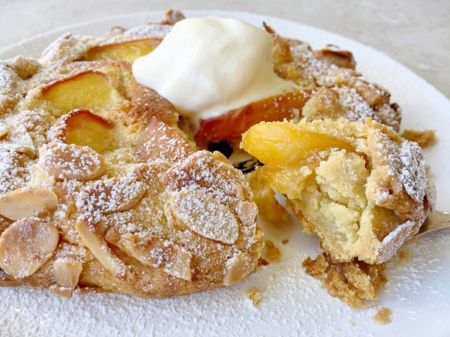 peach galette is very similar to a peach tart except that instead of ...