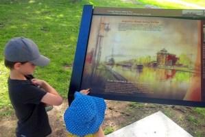 Cornwall Historic Walking Tour illustrations installed along waterfront
