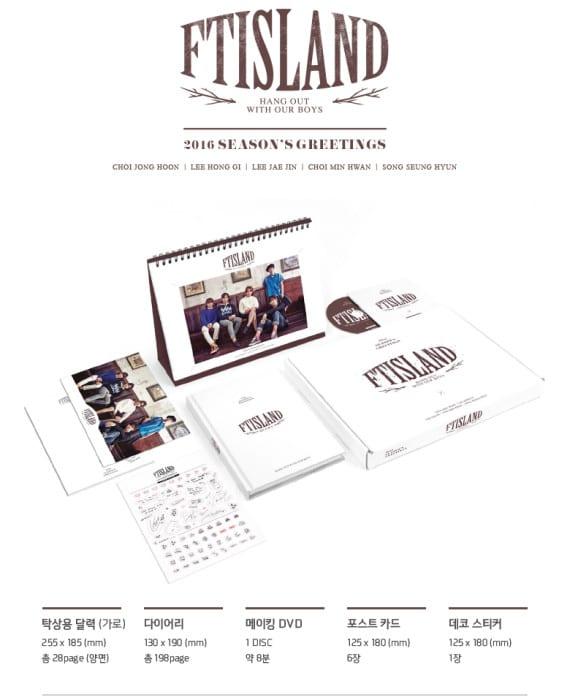 Includes 28P Table Calendar + 198P Diary + Making DVD + 6 Postcards + 1 Deco Sticker Release Date : 16 Dec 15
